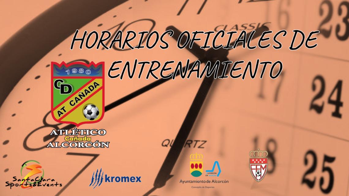 OFICIAL/ Horarios de entrenamiento temporada 2018/2019