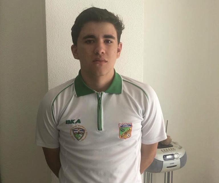 """Vigara, jugador del Cadete B: """"Jugar al fútbol me despeja en los días malos"""""""