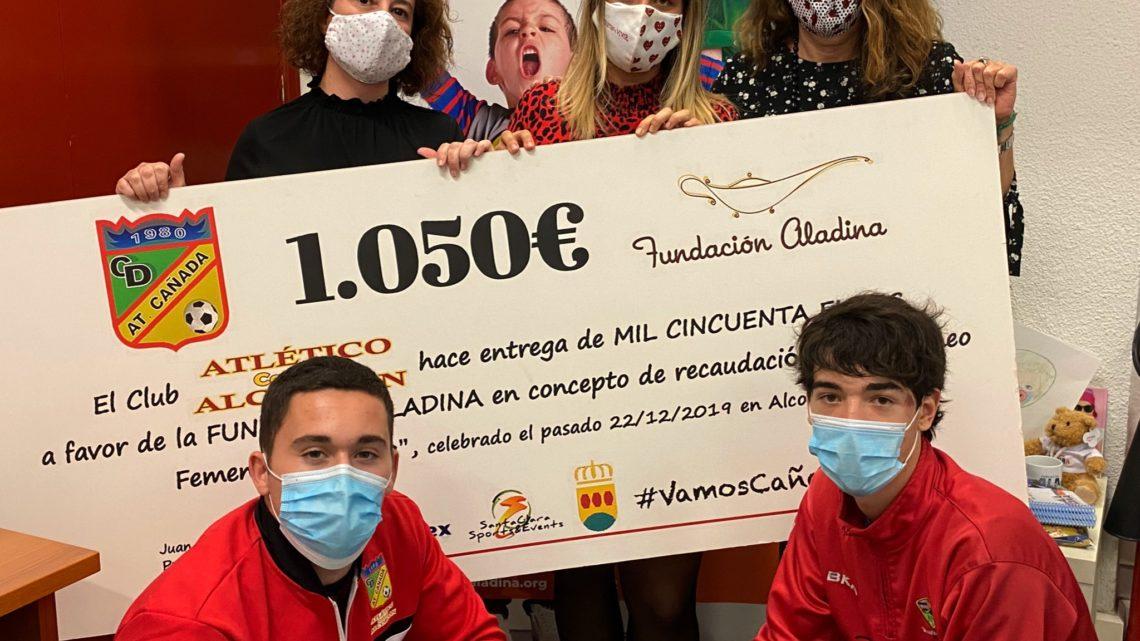 El Atlético Cañada Alcorcón dona más de mil euros a la Fundación Aladina para su lucha contra el cáncer infantil